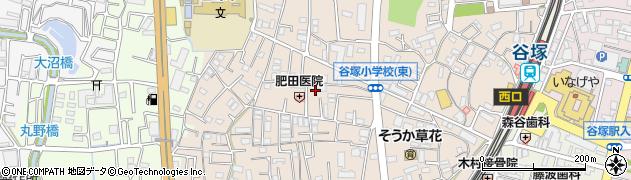 埼玉県草加市谷塚町周辺の地図