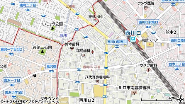 〒332-0021 埼玉県川口市西川口の地図