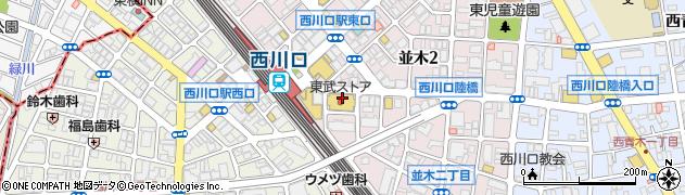 埼玉県川口市並木2丁目周辺の地図