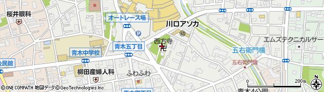 西方寺周辺の地図