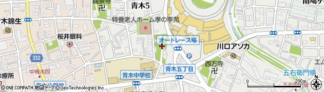 川口氷川神社周辺の地図