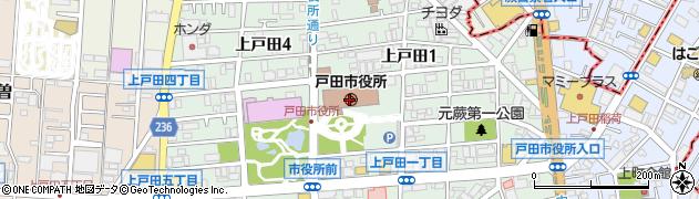 埼玉県戸田市周辺の地図