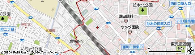 埼玉県川口市並木3丁目16-25周辺の地図