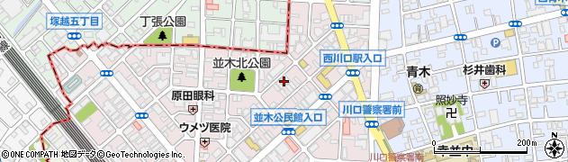 埼玉県川口市並木3丁目5-10周辺の地図