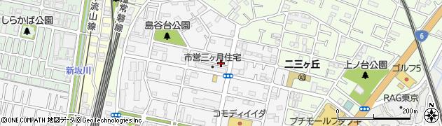 千葉県松戸市三ケ月周辺の地図