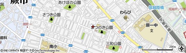 埼玉県蕨市南町周辺の地図