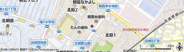 埼玉県朝霞市北原周辺の地図