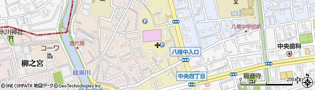 埼玉県八潮市上馬場周辺の地図