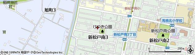 千葉県松戸市新松戸南周辺の地図