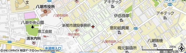 埼玉県八潮市中馬場周辺の地図
