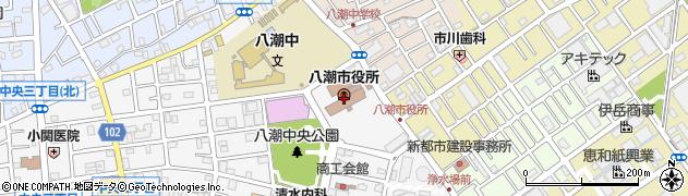 埼玉県八潮市周辺の地図