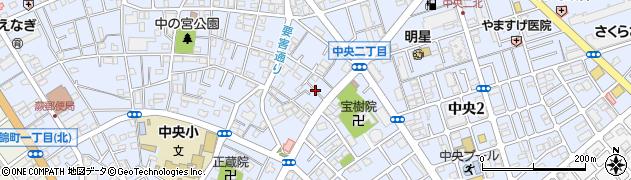 埼玉県蕨市中央周辺の地図