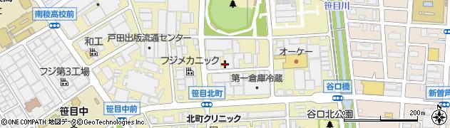 埼玉県戸田市笹目北町周辺の地図