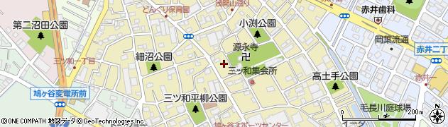 埼玉県川口市三ツ和周辺の地図