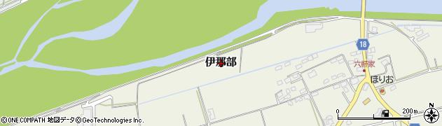 長野県伊那市伊那部周辺の地図