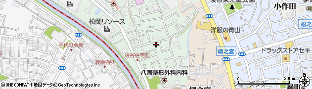埼玉県八潮市南後谷周辺の地図