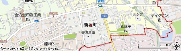 埼玉県川口市新堀町周辺の地図