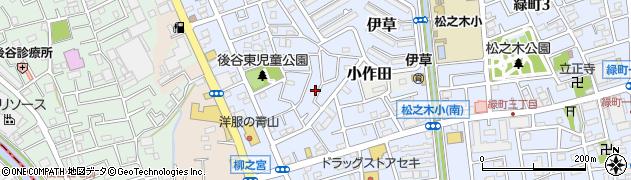 埼玉県八潮市緑町周辺の地図