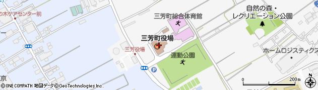 埼玉県入間郡三芳町周辺の地図