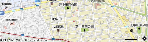 埼玉県川口市芝中田1丁目周辺の地図