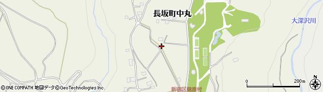 山梨県北杜市長坂町中丸周辺の地図