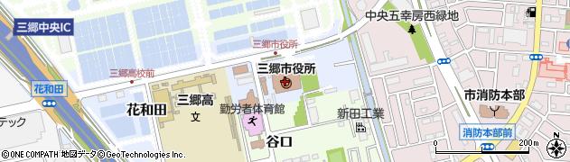 埼玉県三郷市周辺の地図