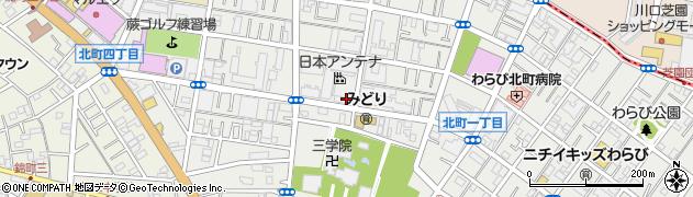 埼玉県蕨市北町周辺の地図