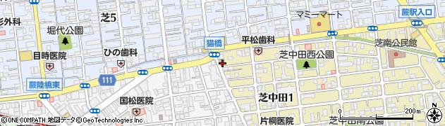 川口芝中田郵便局周辺の地図