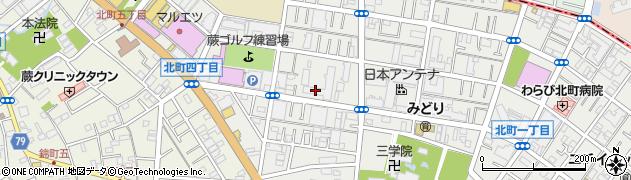 蕨ハイデンス周辺の地図