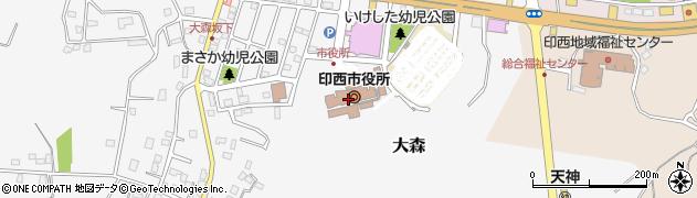 千葉県印西市周辺の地図