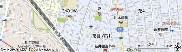 埼玉県川口市芝樋ノ爪周辺の地図