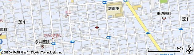 埼玉県川口市芝周辺の地図