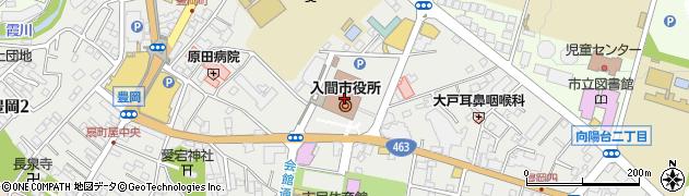 埼玉県入間市周辺の地図