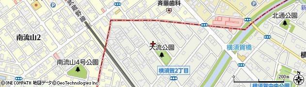 千葉県松戸市横須賀周辺の地図