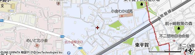 千葉県松戸市東平賀周辺の地図