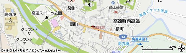 長野県伊那市高遠町西高遠(仲町)周辺の地図