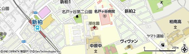 千葉県柏市中原周辺の地図