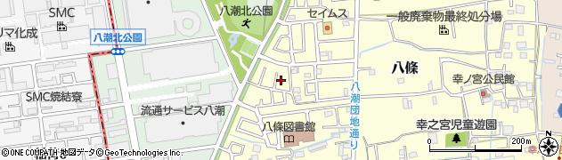 埼玉県八潮市八條周辺の地図