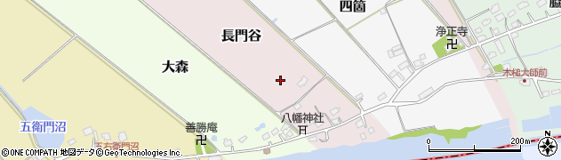 千葉県栄町(印旛郡)長門谷周辺の地図