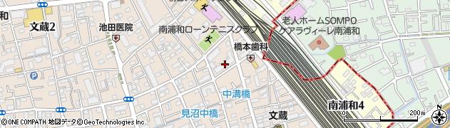 南浦和ガーデンハウス周辺の地図