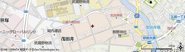 埼玉県三郷市茂田井周辺の地図