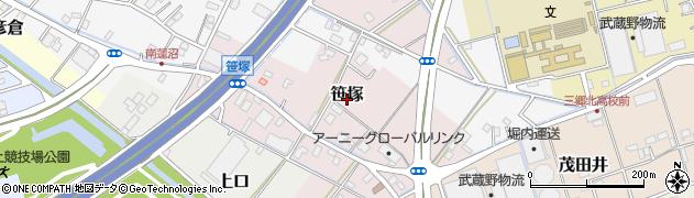 埼玉県三郷市笹塚周辺の地図