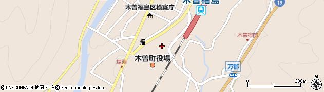 長野県木曽町(木曽郡)周辺の地図