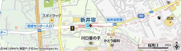 埼玉県川口市周辺の地図