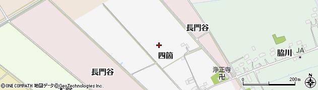 千葉県栄町(印旛郡)四箇周辺の地図
