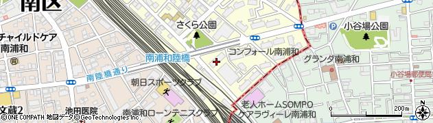 南浦和第二団地周辺の地図