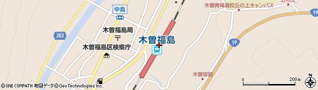 長野県木曽郡木曽町周辺の地図