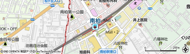 千葉県柏市周辺の地図