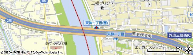天神1(西)周辺の地図