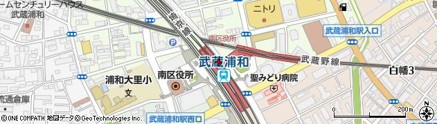 埼玉県さいたま市南区周辺の地図